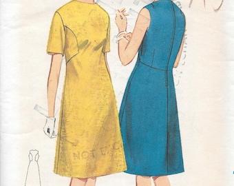 Vintage 1960s Butterick Sewing Pattern 3214- Misses' Dress size 10 Bust 31