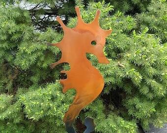 Seahorse Metal Garden Stake/Plasma Cut Metal Art