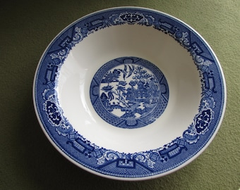 Blue Willow Ware Vegetable Bowl Royal China Chinoiserie Vintage Dinnerware and Replacements