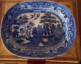 Willow Pattern Platter by Allertons England