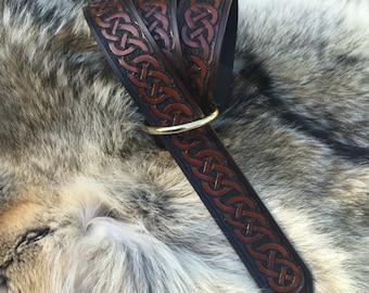 Leather Celtic Belt