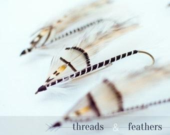 Fly Fishing Boutonniere, Handmade, Lapel Pin, Hat Pin, Brooch Pin