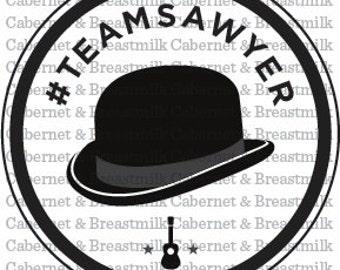 Team Sawyer Window Decal #TeamSawyer