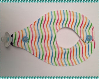 Baby Bib, Binky Bib, Soother Bib, Pacifier Bib-Waves