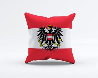Flag of Austria Throw Pillow Cover 15 x 15 inch