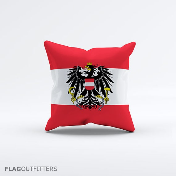 15 Inch Throw Pillow Covers : Flag of Austria Throw Pillow Cover 15 x 15 inch