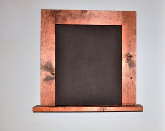 Wood Chalkboard Message and  Memo Center - Handmade - Hang On Wall or Stand Alone- Great Design!