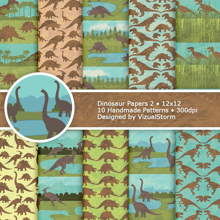 Dinosaur digital paper watercolor birthday backgrounds - Paperboy dinosaur wallpaper ...