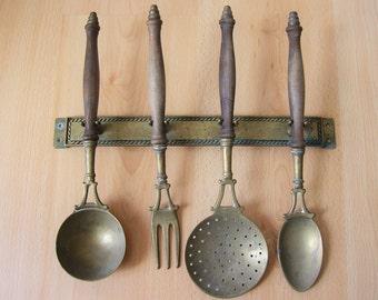 Antique French Kitchen Utensils.  Kitchenware.  Kitchenalia