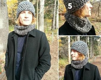 Mens Crochet Beanie Mens Neckwarmer