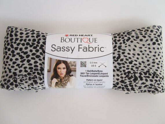 Boutique Sassy Fabric ~ Sheer Fabric Strip Novelty Yarn ~ White Cheetah Print ~ Wonderful For Many Different Knit or Crochet Projects!