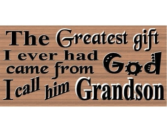 Grandson Wood Signs - Grandson Plaque - GS 2550