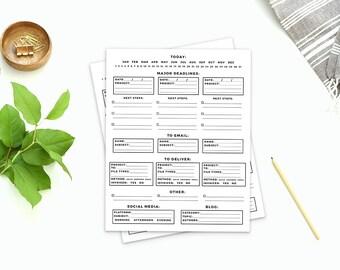 Freelancer's Calendar - printable download