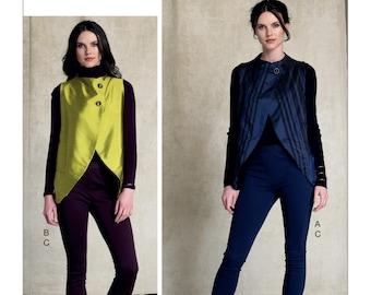 Vogue Pattern V9216 Misses' Seamed, Tulip-Hem Vests and Pants