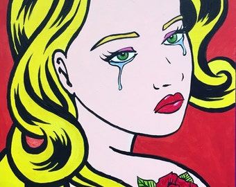 Crying Girl Pop art