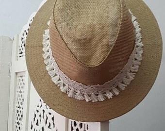 Boho lace hat