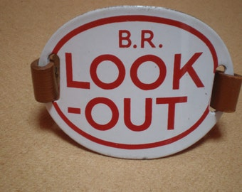 Vintage B.R. LOOK-OUT Enamel Armband.