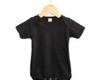 Baby Black Onesie  Polyester/Cotton