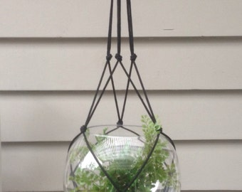 """Macrame """"Simple"""" hanger with no TASSEL. One only."""