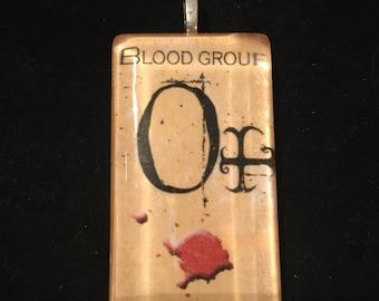 Creepy O+ Blood Type Pendant