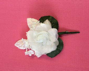 Groom Boutonniere,Couture look Weddings Groomsman, Flower Boutonniere.