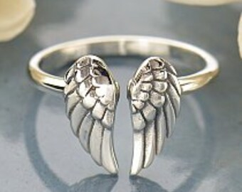 Sterling Silver Adjustable Wing Ring