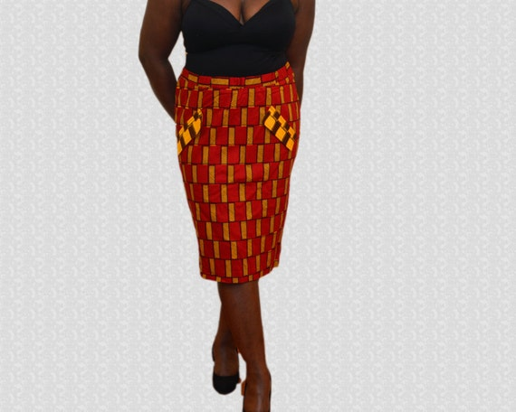 ankara pencil skirt pencil skirts print by nopoku