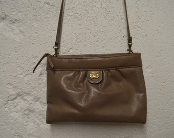 Etienne Aigner Original Handcrafted Taupe Clutch with Removable Strap