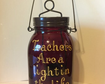 Teacher Appreciation Candle Jar Lantern