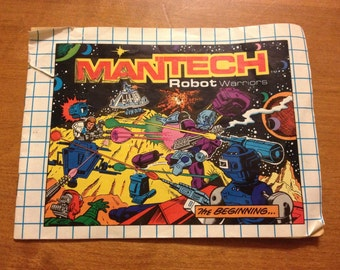 1983 Remco ManTech Robot Warriors Mini Comic Book