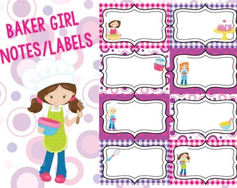 Baker Girl Lunch Notes and Labels
