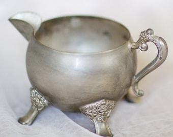 Antique Vintage Silver Creamer