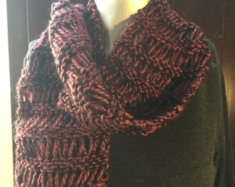 Rust and Black Scarf