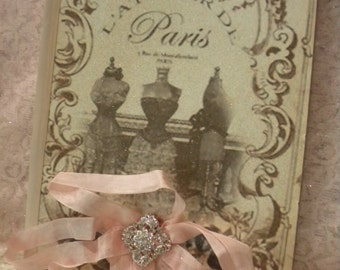 Shabby Chic Altered Journal Vintage Paris Fashion