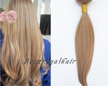 18 inches straight honey blonde color hair extensions, indian remy clip in hair extensions RHS059