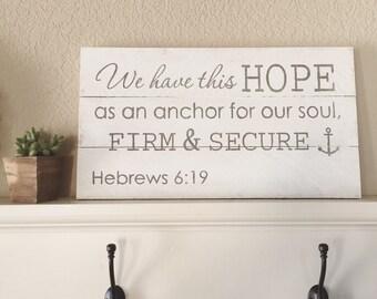 Hebrews 6:19 sign
