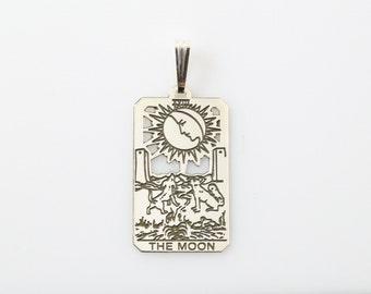 XVIII The Moon Tarot Pendant In Sterling Silver