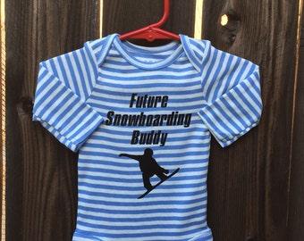 Future Snowboarding Buddy baby bodysuit.     Size 0-3 Months