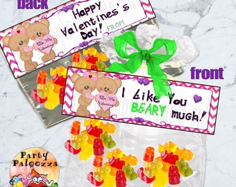 Printable Valentine Treat Bag topper
