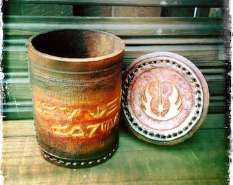 Special Design FanArt Dice Cup III / Handmade / Handcarved (TSDCUP025)