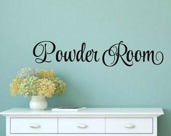 Powder Room Decal Bathroom Decal Powder Room Vinyl Bathroom Wall Decal Bathroom Vinyl Decal Wall Words Bathroom Wall Decor Bathroom Decor