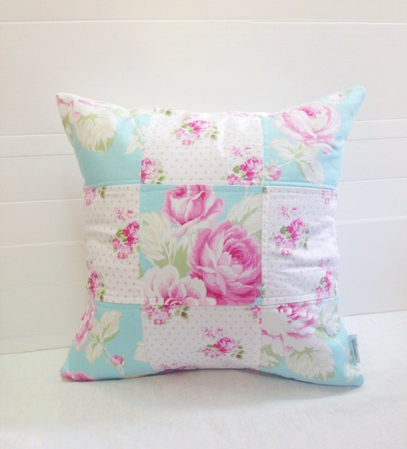SALE_Patchwork Pillow Cover Shabby Chic Pillow Cover Quilted