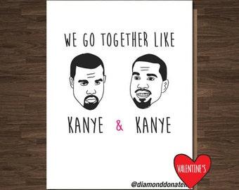 Anniversary Card, Kanye Loves kanye, Funny Anniversary Card