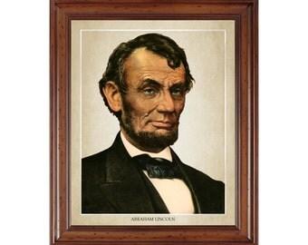 Abraham Lincoln portrait; 16x20 print on premium heavy photo paper