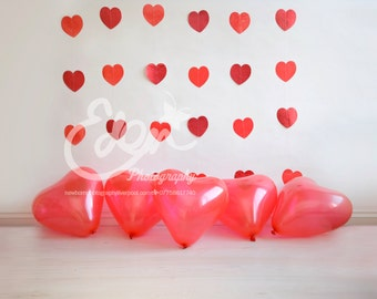 Digital Download Backdrop Valentines Day Valentine Red Hearts Prop Scene Newborn Baby and Toddler Photography