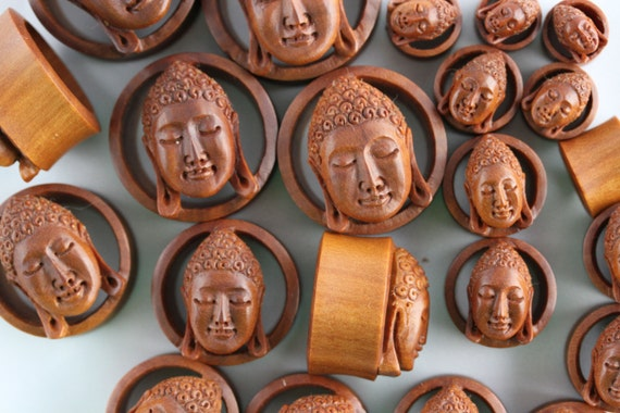 Buddha Gauges: Buddha Plugs Stretched Ear Gauged Earrings Stretch Your