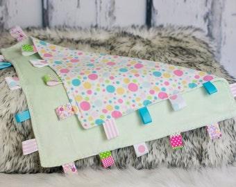 Polka Dot Tag Sensory Blanket