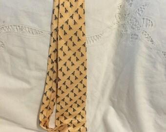 Vintage Hermes yellow necktie