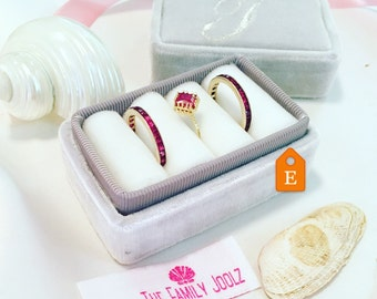 Ring Box Handmade in Vintage Style Dove Grey or Silver and Cream  for Weddings, Heirloom Ring Storage Proposals