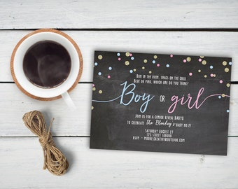 Gender Reveal Invitation Printable